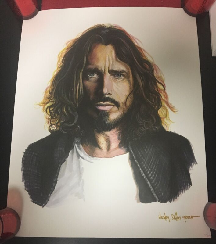 CHRIS CORNELL RARE LITHOGRAPH POSTER NUMBERED SIGNED BY ARTIST