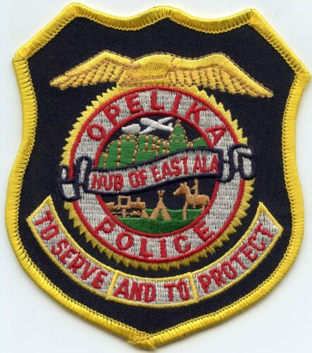 OPELIKA ALABAMA AL Hub of East ALA POLICE PATCH