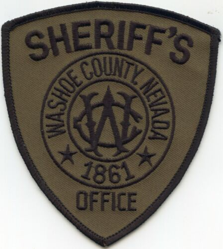 WASHOE COUNTY NEVADA NV Subdued Green SHERIFF POLICE PATCH
