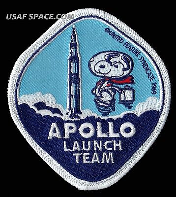 SNOOPY - APOLLO LAUNCH TEAM - NASA  SPACE PATCH - MINT - CONDITION