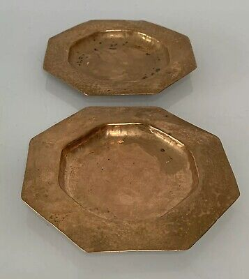 A Pair of Vintage Arts and Crafts Ashtrays