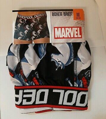 Deadpool Boxer Brief Unicorn Underwear Medium 32-34 Marvel New