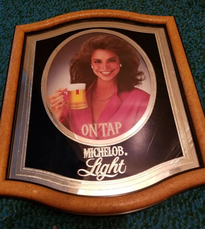 Vintage 1983 Michelob on tap girl sign.