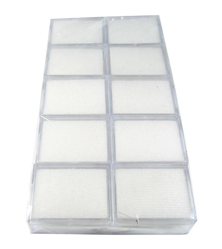 10  PCS OF CLEAR PLASTIC GEMSTONE GEM COIN JAR JEWELRY DISPLAY BOX Sz 5x4x2 CM