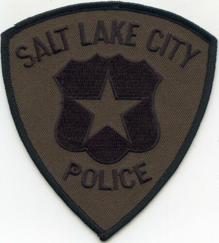 SALT LAKE CITY UTAH UT subdued green POLICE PATCH