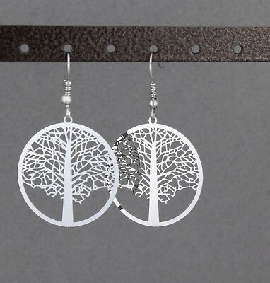 Tree Of Life Symbols (Silver Tree of Life earrings 1 7/8
