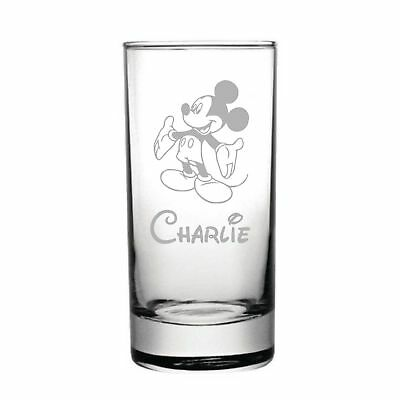 Disney Mickey Mouse Laser Engraved Personalised Half Pint Glass