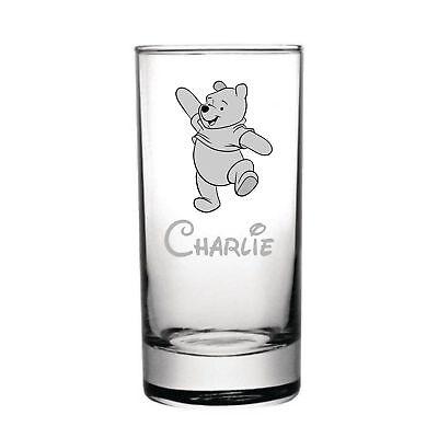 Disney Winnie the Pooh Laser Engraved Personalised Half Pint Glass