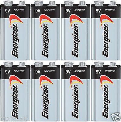 8 x Energizer Max 9V 9 Volt 522 Alkaline Batteries