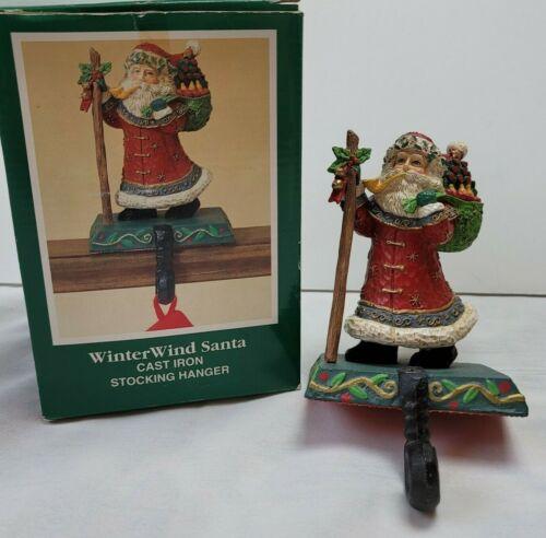 Midwest Cannon Falls WinterWind Santa Cast Iron Stocking Hanger Holder Folk Art