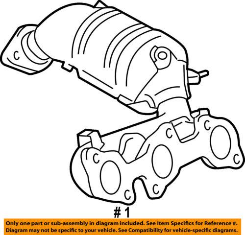 Toyota Oem 07 10 Sienna Exhaust Manifold 171400p090