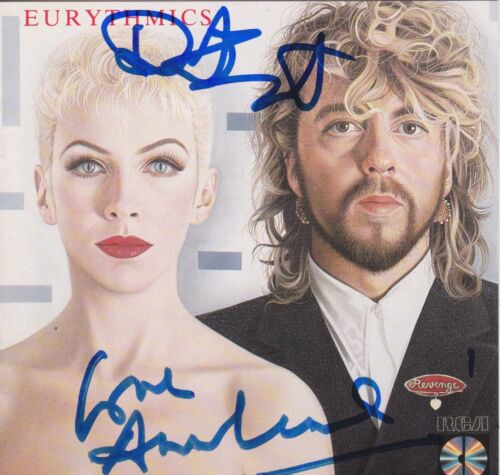 Annie Lennox & Dave Stewart signed Eurythmics Revenge cd