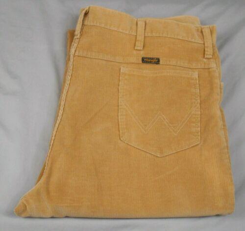 Vtg,Wrangler,British Khaki Color Beige,F/F,Corduroy Wide Leg Pants,Men