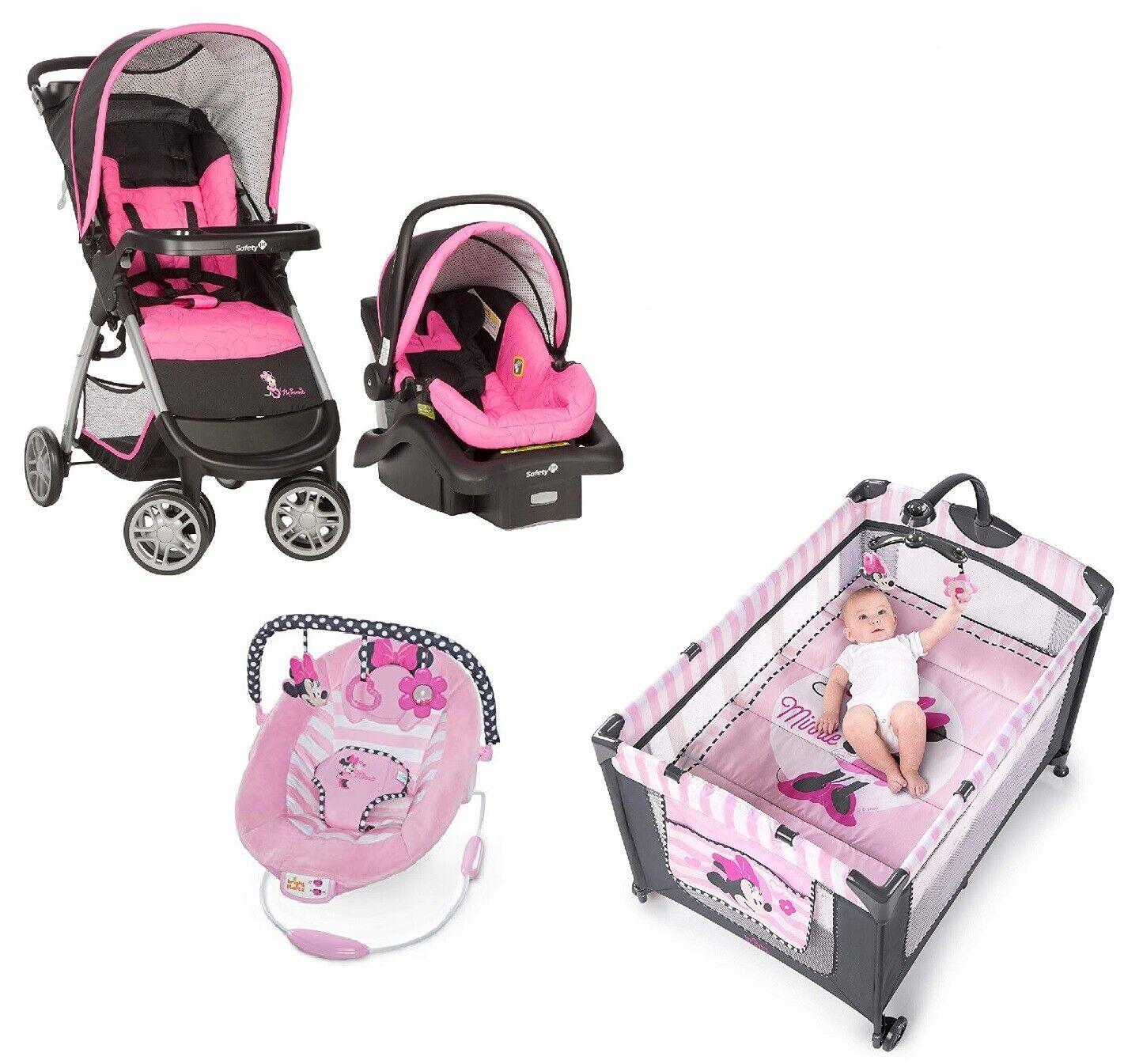 Baby Bundle Stroller Car Seat Playard Bouncer Disney Travel