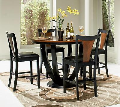 Coaster 102098 102099 Boyer 5 Pc Round Counter Height Dining Table Set