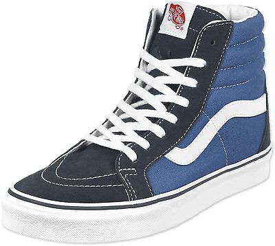 Vans Classic SK8 Hi Top Navy Blue White Mens Womens Shoes All Sizes