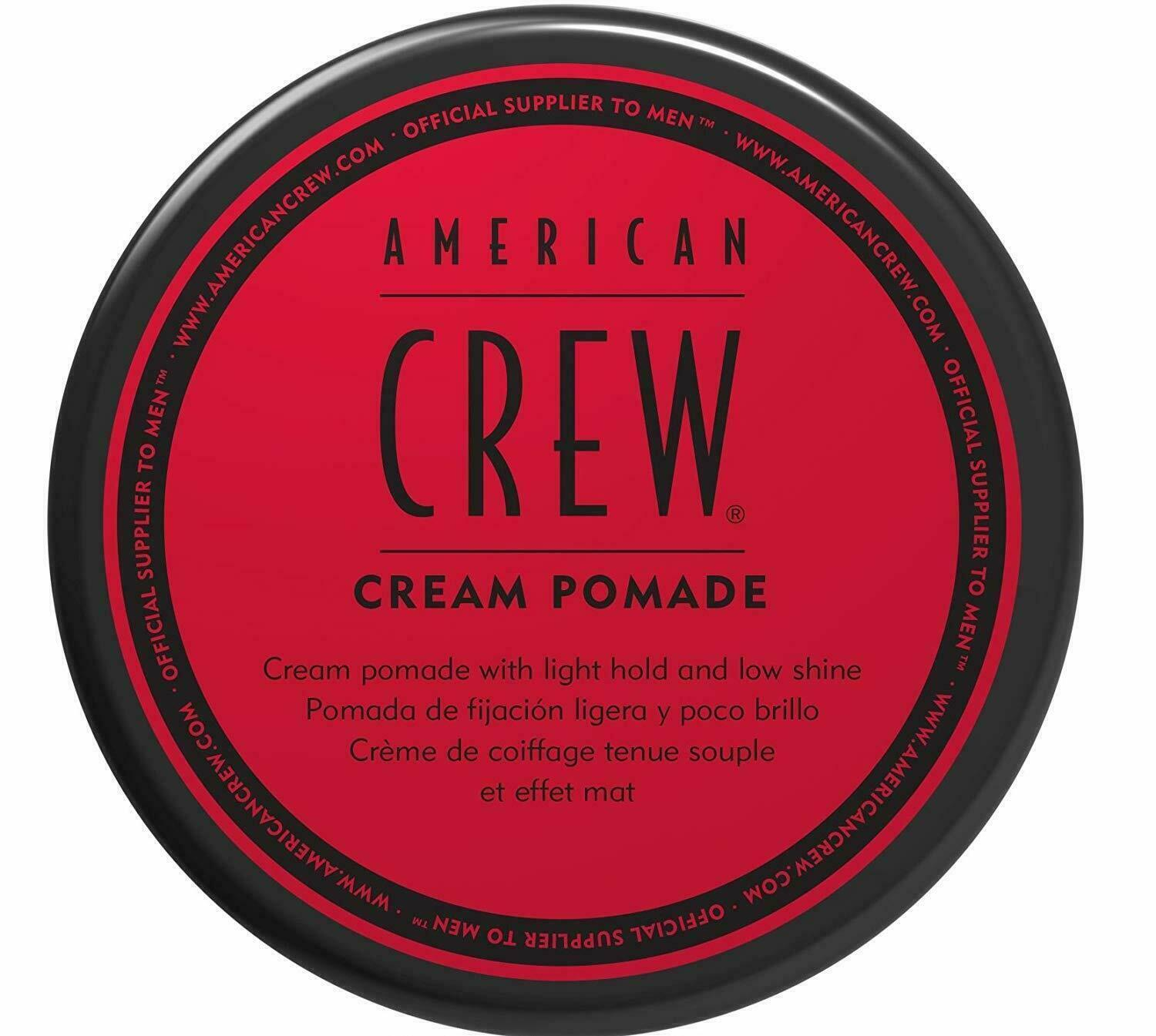 NEW American Crew 3oz Cream Pomade - Cream Pomade with Light
