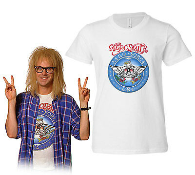 Wayne's World Garth Algar Aerosmith T-shirt Halloween Costume Shirts Party On!