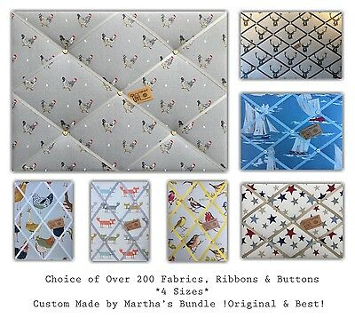 Custom Made Upholstered Padded fabric Pin/memo/notice/photo cork board *4 SIZES*](Custom Memo Pads)