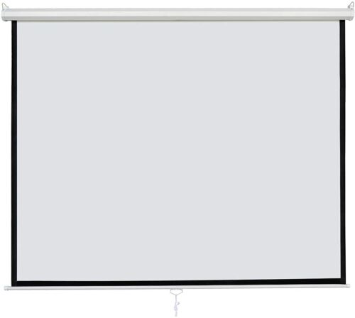New 113 Inch Manual Pull Down Projector Projection Screen Home Theater Movie