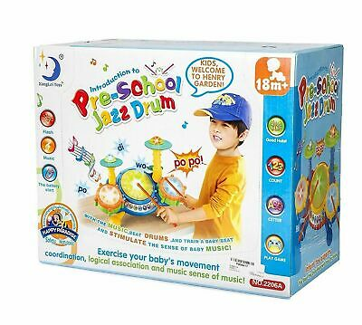 Educational Toys For 2 Year Old Baby Kids Toddlers Boy Girl Learning Drum Set