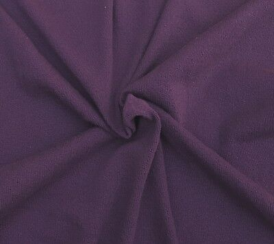 Purple Cotton Knit Fabric by the Yard Double Crepe Heavy Weight (Heavyweight Double Knit)