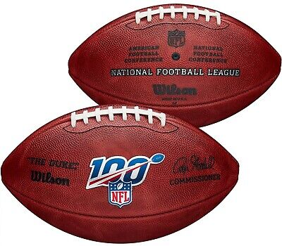 Wilson Official 100th NFL Anniversary Authentic Leather Game Ball Duke Football  Wilson Official Nfl Game Football