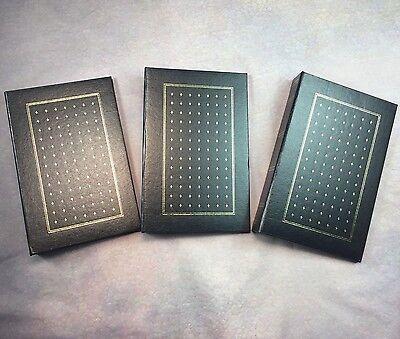Photo Albums Inserts (Set Of Three Photo Albums Black w/Gold 3 Ring Binder 4x6 Photo Inserts)