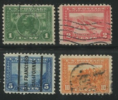 1914-1915 US Stamps #401-404 Used F/VF Canceled Panama-Pacific Exposition Issue