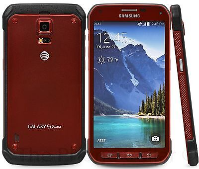 Samsung Galaxy S5 Active SM-G870A  4G LTE 16GB Red (Unlocked) Smartphone USED