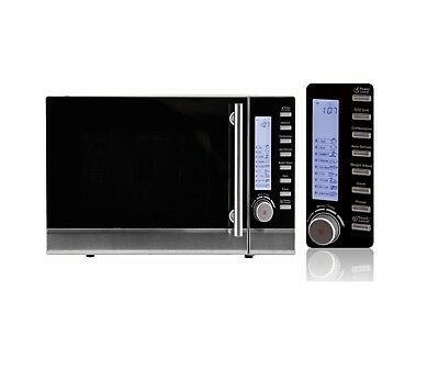 BRAND NEW AKAI STAINLESS STEEL 25L 900W MICROWAVE OVEN WITH GRIL RRP $249