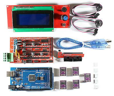Ramps 1.4 Setkit For Reprap 3d Printer Mega 2560 5x Drv8825 2004 Lcd Arduino