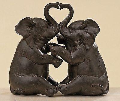 Verliebte Elefanten Figur Deko Elefant Figuren Dekoration Afrika Skulptur Tier