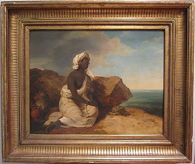 Antico Inizio 19° Secolo Austriaco Peter Fendi African Slave Venezia Pittura