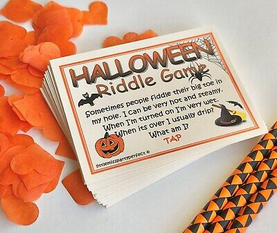 Funny Halloween Riddles (Halloween Party Games Adult Humour Dirty Riddle Drinking Games)