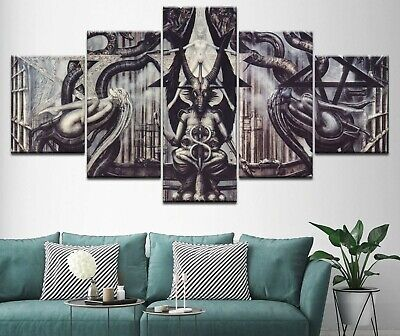 Abstract Baphomet 5 Pcs Canvas Wall Art Painting Poster Home Decor