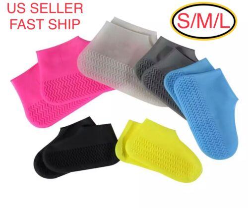 Waterproof Shoe Covers Shoes Protector Rain Cover Kids Women Men Size S M L