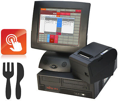 Cash Register System Gastro Checkout Preh Touchscreen Monitor Bonprinter Epson