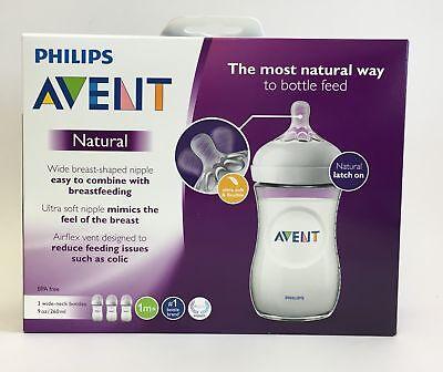 PHILIPS Avent 3 Pack 9oz Natural BPA free Baby Bottles - SCF