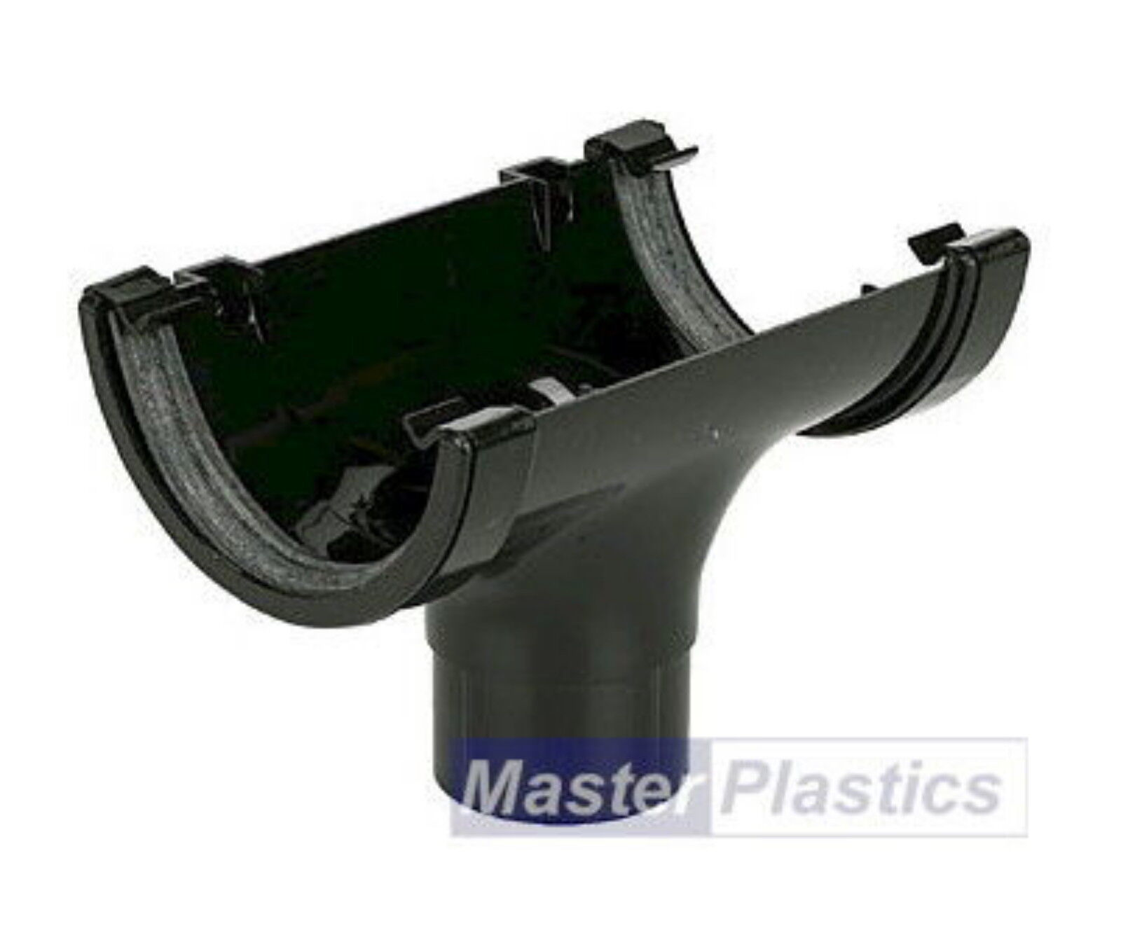 New Upvc Plastic Black Half Round Gutter And Guttering