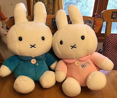 "NEW - Set of 2 Japanese Miffy Plush Dolls 15"" Tall"