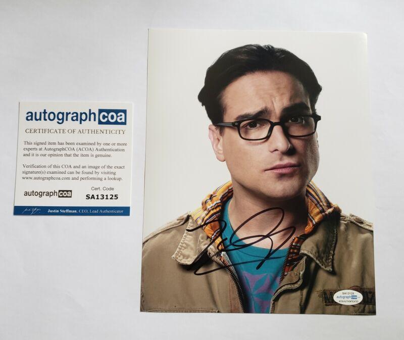 Johnny Galecki Autographed Signed 8x10 Photo The Big Bang Theory ACOA