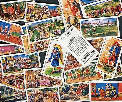 "RINGTONS TEA 1964 SET OF 25 ""OLD ENGLAND"" ENGLISH HISTORY TEA CARDS"