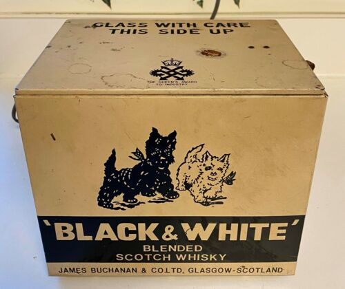 Vintage Black & White Scotch Whiskey Barking Dogs Electronic Store Display
