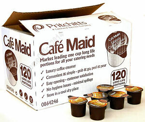 Cafe Maid 120 Cartons - Long Life Luxury Coffee Creamer Milk Portions