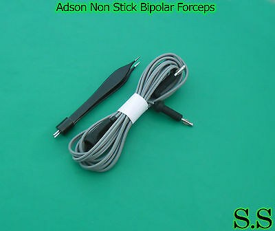 Adson Non Stick Bipolar Forceps 0.5mmtip With Silicone Electrosurgicalel-001