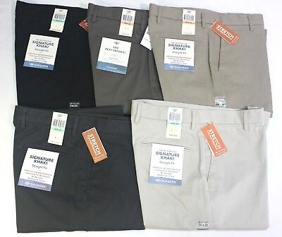 Men's Dockers Best Pressed Signature Khaki Straight Fit Flat Front Cotton Pants
