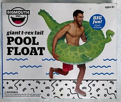 Giant Inflatable T Rex (Big Mouth Inc Giant T-Rex 🦖 Tail Inflatable Pool Float - 6 FT)