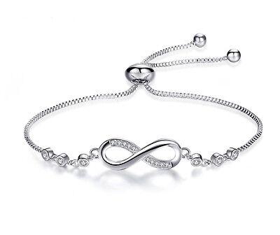 Silber Armband | Infinity | Diamanten | Unendlich Ewigkeit | Silber Edelmetall