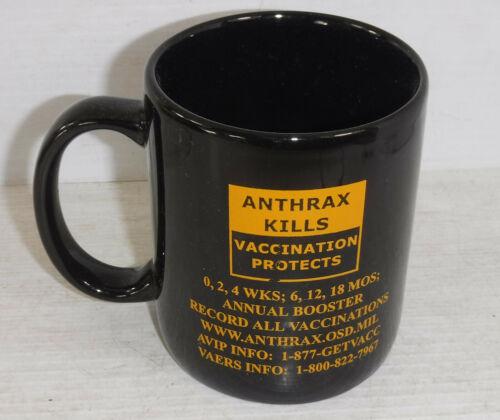 U.S. Military Army Anthrax Vaccine Advertising Coffee Mug Gulf War Circa 2001